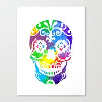 sugar skull Canvas Prints featuring Sugar Skull by Diana Arend