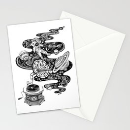 Cosmos Space Music Stationery Cards