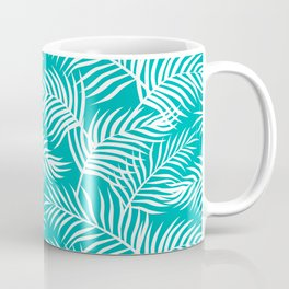 Palm Leaves_Teal Coffee Mug