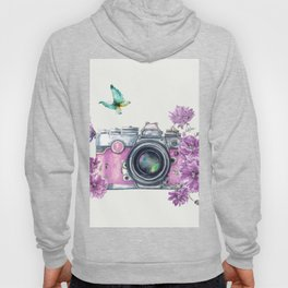 Camera with Summer Flowers 2 Hoody