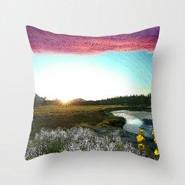 Gloaming over Tuolumne Meadows Throw Pillow