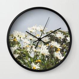 Embrace a bouquet of flowers Wall Clock