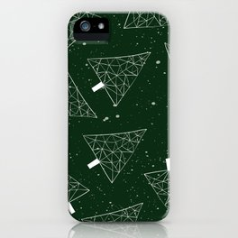 Christmas Trees Green iPhone Case