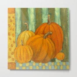 Five Pumpkins Metal Print