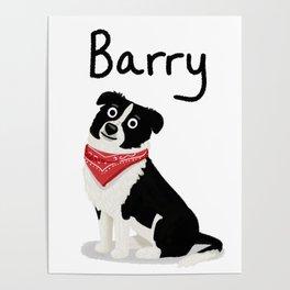 "Custom Cute Dog Art ""Barry"" Poster"