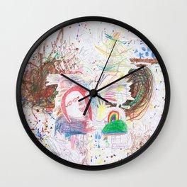 Children's art Wall Clock