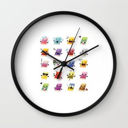 Bookiemoji Party Wall Clock