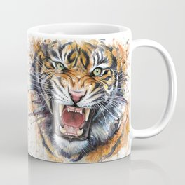 Tiger Roaring Wild Jungle Animal Coffee Mug