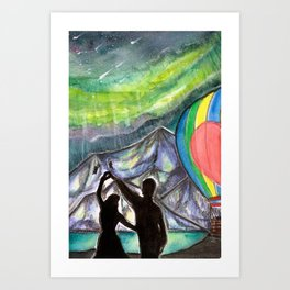 Leave this world with me (butterfly) Art Print