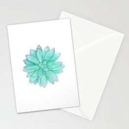 Pachyveria - Green and Red Succulent Stationery Cards