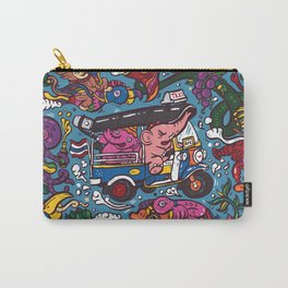 Elephant riding tuktuk Carry-All Pouch
