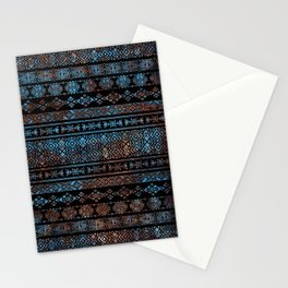 Bronze and Rust Vintage  Aztec Peruvian Tribal Pattern Stationery Cards