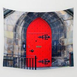 Red Door Wall Tapestry