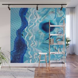 Blue Rivers Wall Mural