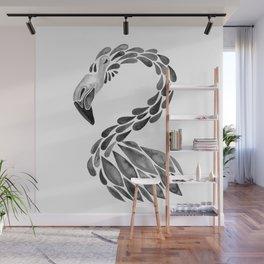 Miami Flamingo – Black Ink Wall Mural