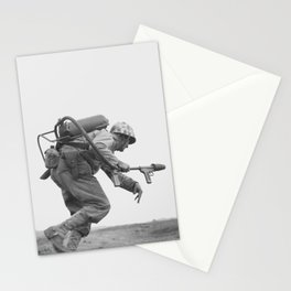 Flamethrower Operator - Battle of Iwo Jima Stationery Cards