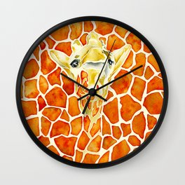 Keep Your Head Up - Giraffe  Wall Clock
