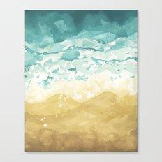Minimalist Shore - Beach Painting Canvas Print