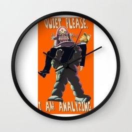 Quiet Please, I Am Analyzing - Forbidden Planet Robby the Robot - Donald Trump Mashup - Neckahneck Wall Clock