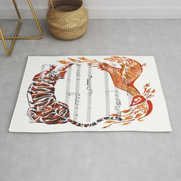 The Tiger and the Phoenix Rug