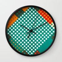 dots Wall Clocks featuring Dots by SensualPatterns