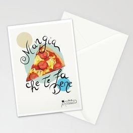 Pizza Mangia che te fa bene Stationery Cards
