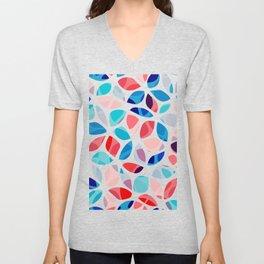 Flower Petals Colorful Pattern Unisex V-Neck
