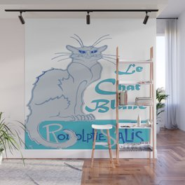 Le Chat Blanc Parody Vector Wall Mural
