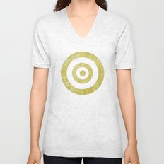 Target of desire - gold Unisex V-Neck