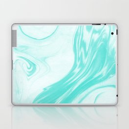 Enoshima - spilled ink abstract painting water ocean japanese wave marble marbling marbled pattern Laptop & iPad Skin