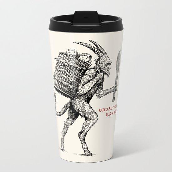 Gruss vom Krampus Metal Travel Mug
