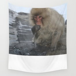 King of the Onsen Wall Tapestry