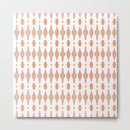 Marrakesh White Pink Blue Tiled Metal Print