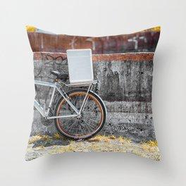 Street Bicycle Throw Pillow
