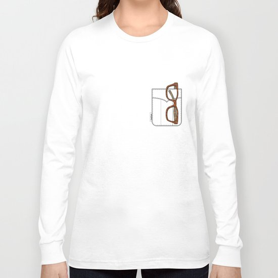Pockets - The Hipster - Long Sleeve T-shirt