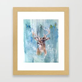 Deer Flow Framed Art Print