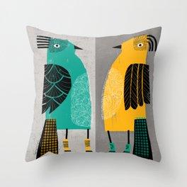 STANDING  BIRDS Throw Pillow