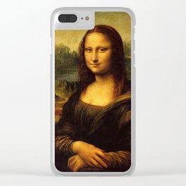 Mona Lisa - Leonardo da Vinci Clear iPhone Case
