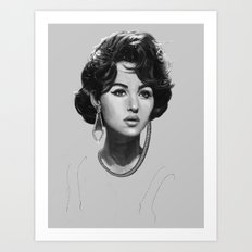 Monica Bellucci Art Print