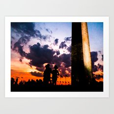 Concert at the Washington Monument Art Print