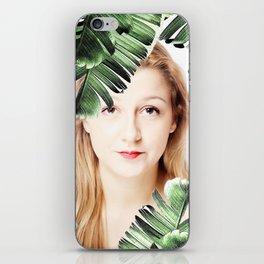 woman palm  leaf iPhone Skin