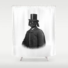 Lord Vadersworth (mono) Shower Curtain