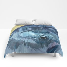 Mustache the Otter Comforters