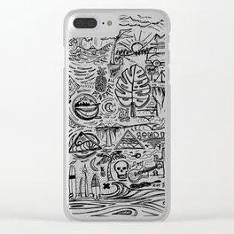 Sketch Book Clear iPhone Case