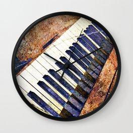 Piano keys art Wall Clock