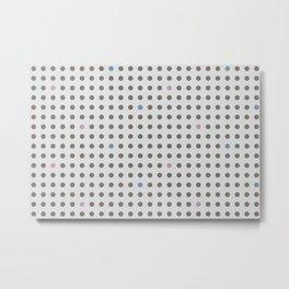 Dot Grid Metal Print