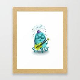 Musical octopus Framed Art Print
