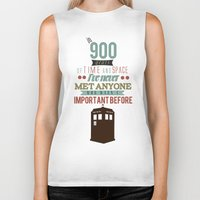 doctor who Biker Tanks featuring Doctor Who by Ashley