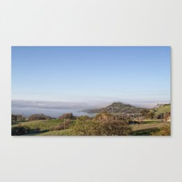 Fog Meets Hill in travel up valley floor, Butte County Canvas Print