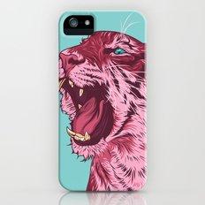 Magenta tiger iPhone (5, 5s) Slim Case